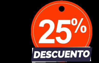 25%dcto